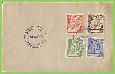 Guernsey / Herm Island 1956 Local Issue Maps Set On Piece Used • 3£