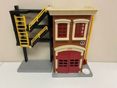 Fisher Price Imaginext Rescue Firefighter Police Fire Station House • 38.35£