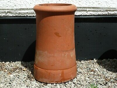 Clay/Terracotta Roll Top Chimney Pot - Vgc • 18£