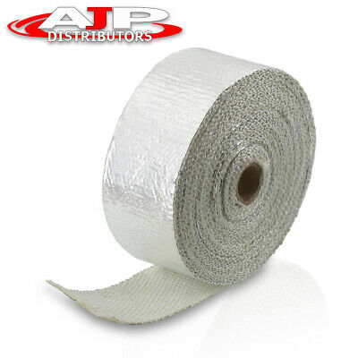 $ CDN22.72 • Buy 10M Header Exhaust Intake Manifold Downpipe Silver Thermal Heat Wrap Protection