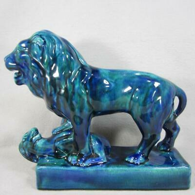 $ CDN0.01 • Buy Blue Mountain Pottery Lion And Gazelle With Cobalt Glaze - Romar Series