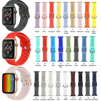 $ CDN6.30 • Buy Silicone Sport Band Straps Accessories For Apple Watch Series SE 6 5 4 3 38-44mm