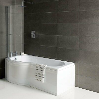 Synergy Zeya P-Shaped Standard Shower Bath 1600mm X 750/850mm - Left Handed • 252.95£