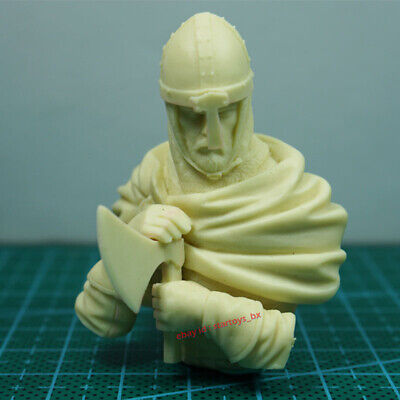 Male Warrior Bust 1/16 Unpainted Resin Model Kit Unassembled Garage Kit Figure • 12.55£