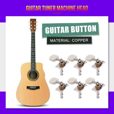 $6.89 • Buy Guitar Machine Heads Tuning Pegs Tuners For Classical Acoustic Folk Guitar 3R+3L