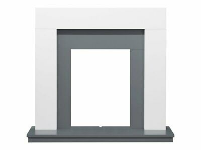 £209.99 • Buy Adam Dakota Fireplace In Pure White Grey 39 Inch Suitable With Electric Fires