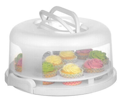 2 In1 Cupcake Carrier Cake Box Holder Portable Cupcake Muffin Container White  • 14.99£
