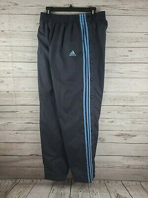 $ CDN21.25 • Buy Adidas Men's Track Pants Size Large Snap Up Lined W/ Pockets Warm Lining Blue
