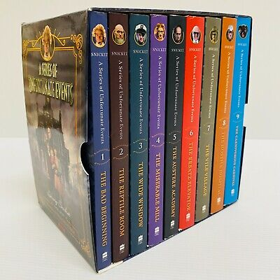 AU60 • Buy A Series Of Unfortunate Events Books 1-9 Netflix Tie-In Boxset Good Condition