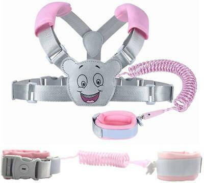 Baby Reins Walking Harness For Toddlers, Kids, Children, 3-In-1, Anti Lost Wrist • 15.73£