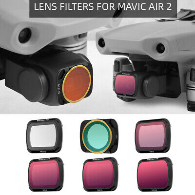 AU70.36 • Buy Professional MCUV+CPL+ND4+ND8+ND16+ND32 Lens Filter For DJI Mavic AIR 2 Drone