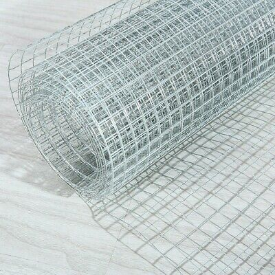 Welded Wire Mesh 1 X1  Galvanised Fence Aviary Rabbit Hutch Chicken Fence Roll • 26.92£