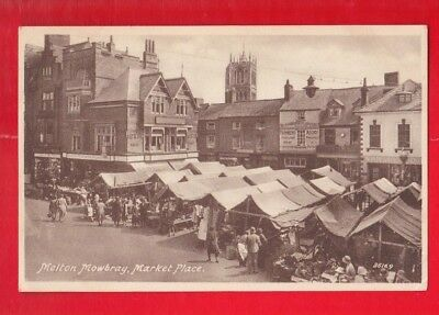 Leicestershire,  Melton Mowbray, Market Place. Postcard • 4.99£