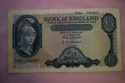 Bank Of England O'BRIEN Five £5 Pound Banknote D84 726947 Rough  Lion & Key Note • 7.99£
