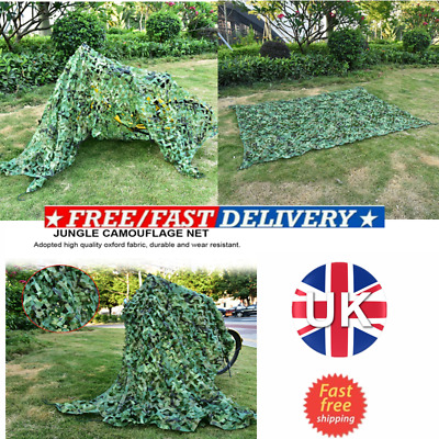 £9 • Buy Army Camo Net Camouflage Netting Military Hunting/Shooting Hide Woodland 1.5*5M