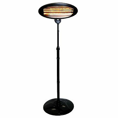 2KW Quartz Free Standing Outdoor Electric Garden Patio Heater Royal Mail 48 NN • 69.99£