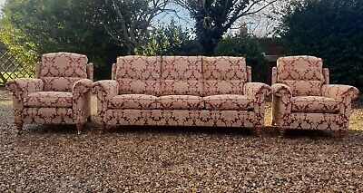 Duresta Southsea Large 3 Seater Sofa + 2 Armchairs 3 Piece Suite RRP £6000 • 205£
