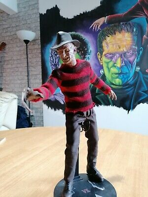Sideshow Freddy Krueger 12 Inch Horror Action Figure Nightmare On Elm Street • 200£