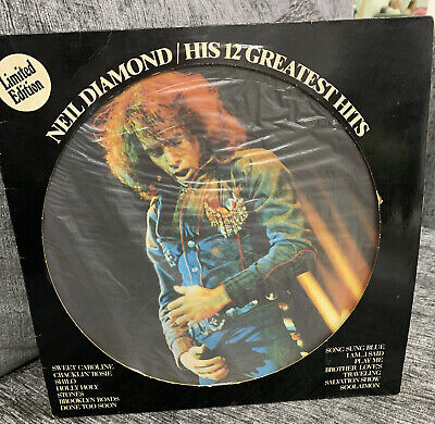 "NEIL DIAMOND GREATEST HITS PICTURE DISC 12"" VINYL LP 1974 Ltd Edition Dutch N/M • 5.95£"