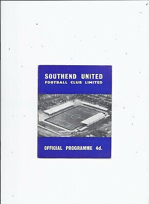 Southend United V Portsmouth 28 August 1961 • 3.99£