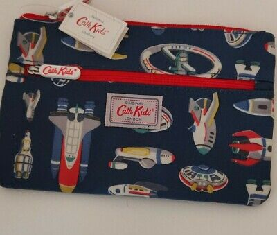 Cath Kidston Up In Space Double Zip Pencil Case • 4.99£
