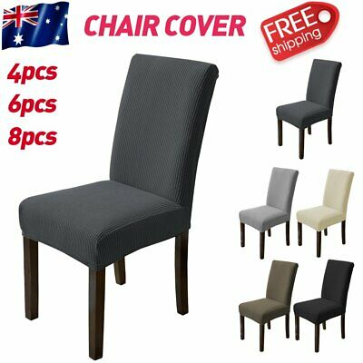 AU0.01 • Buy 8pc High Stretch Chair Cover Seat Covers Jacquard Washable Banquet Wedding Party
