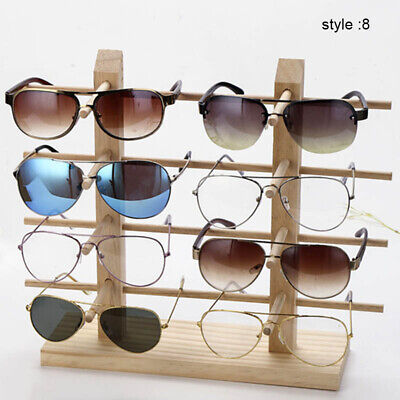 AU16.99 • Buy Wooden Sunglass Display Rack Shelf Wooden Eyeglasses Show Stand Holder AU STOCK