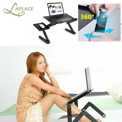Adjustable Portable Laptop Stand Lazy Lap Sofa Bed PC Notebook Desk Table Tray • 13.99£