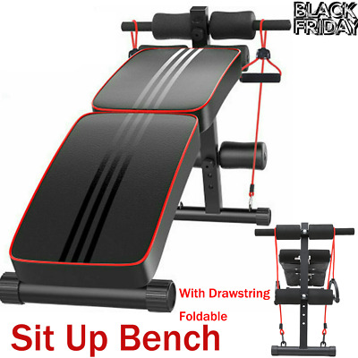 £37.98 • Buy Foldable Sit Up Bench Incline Decline Core Workout Fitness Exercise Home Gym UK