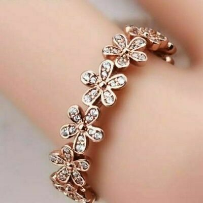 AU49.99 • Buy Genuine S925 Rose Gold Dazzling Sparkling Daisy Flower Pandora Ring