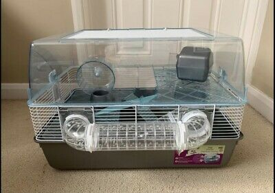 Pets At Home Plastic Syrian And Dwarf Hamster Cage Large Grey • 24.99£
