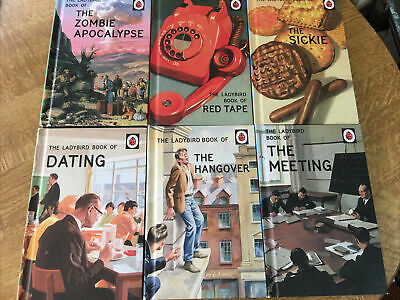 Ladybird Adult Books Sickie Red Tape Zombie Meeting Dating Hangover Parody X6 • 15£