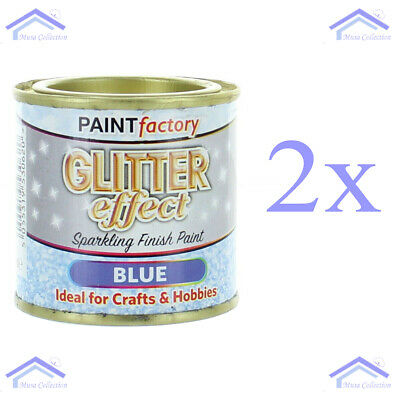 2x Paint Factory Blue Glitter Effect Sparkling Finish Craft / Hobby Paint 125ml  • 6.95£