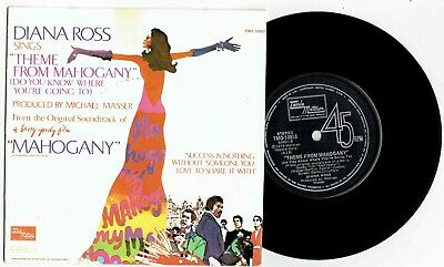 AU7.99 • Buy DIANA ROSS - THEME FROM MAHOGANY - 7  45 VINYL RECORD W PICT SLV - 1973