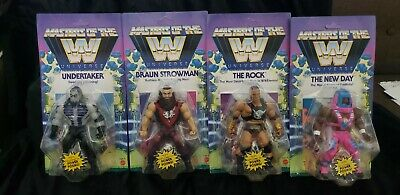 $120 • Buy WWE Masters Of The Universe WAVE 3 Rock Undertaker New Day Strowman Unpunched