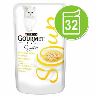 Gourmet Soup Megapack 32 X 40g - Chicken - Tuna - Shrimps - Anchovies - Cat Food • 32.47£