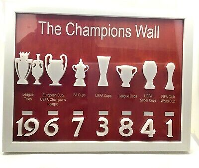 £14.50 • Buy Liverpool Fc Champions Wall 3d Anfield Champions Trophies Shankly Paisley Klopp
