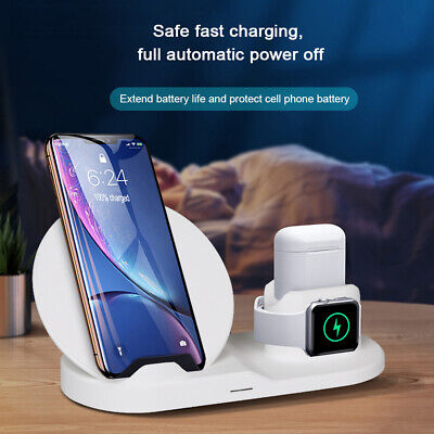 AU24.99 • Buy 3in1 Fast Wireless Charger Dock Charging For Apple IPhone 8 12 11 Pro Max IWatch