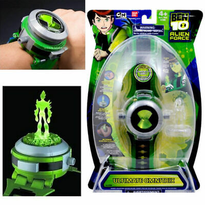 Child Watches BEN 10 Ten Projector Alien Force Illumintator Bracelet Kid's Toys • 10.39£