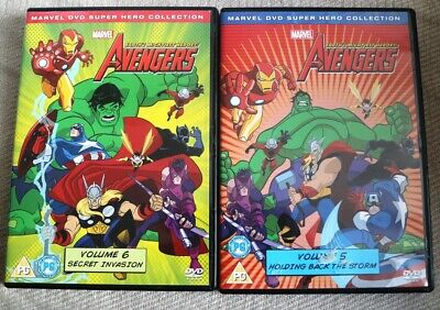 Avengers - Earth's Mightiest Heroes - Vol. 5 And 6 (DVD, 2013) (PG) • 0.99£