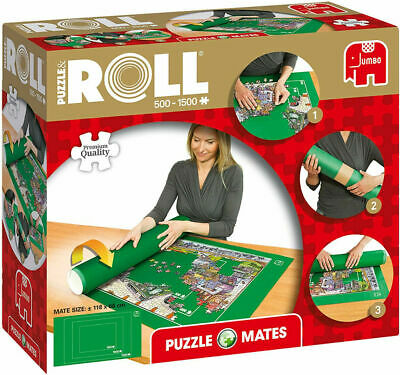 £11.85 • Buy Jumbo Puzzle Mates Roll Mat Storage For Jigsaws Up To 1500 Pieces 118 X 66cm 690