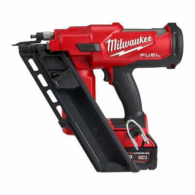 Milwaukee M18FFN-502C 18v Fuel Framing Nailer 2 5.0Ah Batteries And Charger Case • 625£