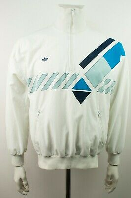 Vintage Adidas Ivan Lendl Half Zip Track Top Pullover Jacket M Made West Germany • 63.68£