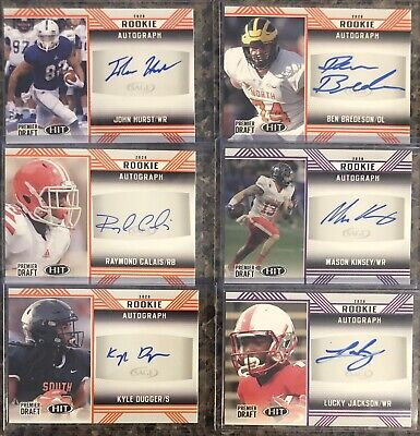 $ CDN2.67 • Buy 2020 Sage Hit Rookie RC Auto Lot (6) Jackson Kinsey Dugger Calais Hurst