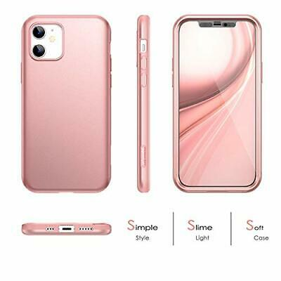 SURITCH Case For IPhone 12 6.1 Inch [Built-in Screen Protector] Rose Gold   • 21.99£