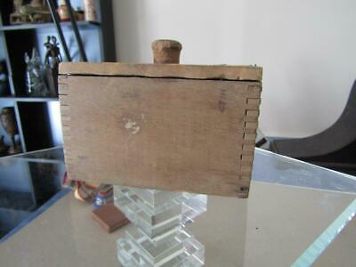 """$ CDN12.69 • Buy Vintage Primitive Wooden Butter Mold With Press 5.5x3x4"""" Dovetailed Used"""