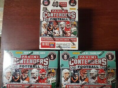 $ CDN40.66 • Buy Lot Of 3-2020 Panini Contenders Football Blaster Box Sealed Tua, Herbert,Auto?