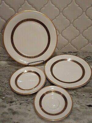 $ CDN63.52 • Buy Vintage ROYAL DOULTON HARLOW 4 Piece SETTING Dinner Luncheon Bread PLATE Saucer