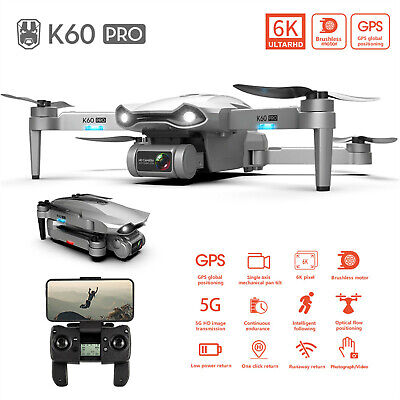 AU268.88 • Buy K60 Pro GPS Drone With Camera 6K 4K Brushless Single Axis Pan Tilt RC Drone