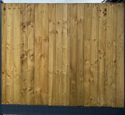 Yorkshire Board Pressure Treated /& Tanalised Fence Panel 6ftWx5ftH